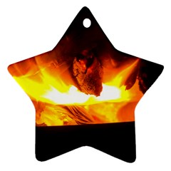 Fire Rays Mystical Burn Atmosphere Star Ornament (two Sides)
