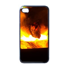 Fire Rays Mystical Burn Atmosphere Apple Iphone 4 Case (black)