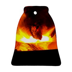 Fire Rays Mystical Burn Atmosphere Bell Ornament (two Sides)