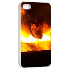 Fire Rays Mystical Burn Atmosphere Apple Iphone 4/4s Seamless Case (white)