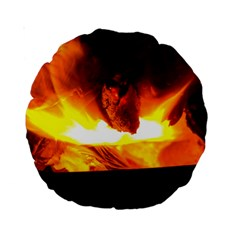 Fire Rays Mystical Burn Atmosphere Standard 15  Premium Round Cushions