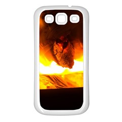 Fire Rays Mystical Burn Atmosphere Samsung Galaxy S3 Back Case (white)