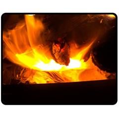 Fire Rays Mystical Burn Atmosphere Double Sided Fleece Blanket (medium)
