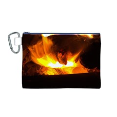 Fire Rays Mystical Burn Atmosphere Canvas Cosmetic Bag (m)