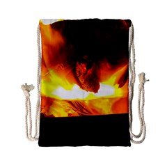 Fire Rays Mystical Burn Atmosphere Drawstring Bag (small)