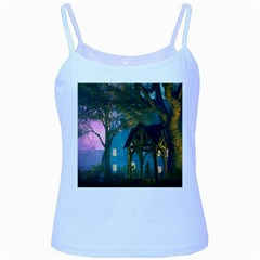 Background Forest Trees Nature Baby Blue Spaghetti Tank