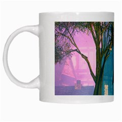 Background Forest Trees Nature White Mugs