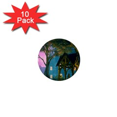 Background Forest Trees Nature 1  Mini Buttons (10 Pack)