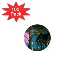 Background Forest Trees Nature 1  Mini Buttons (100 Pack)