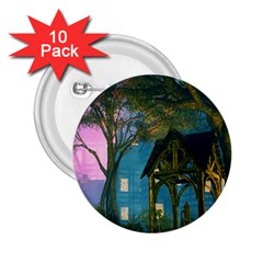 Background Forest Trees Nature 2 25  Buttons (10 Pack)