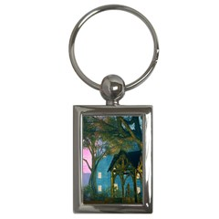 Background Forest Trees Nature Key Chains (rectangle)