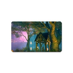 Background Forest Trees Nature Magnet (name Card)