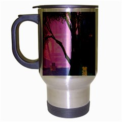 Background Forest Trees Nature Travel Mug (silver Gray)