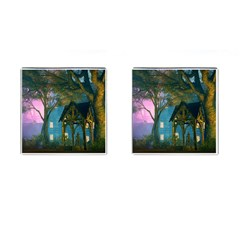 Background Forest Trees Nature Cufflinks (square)