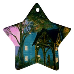 Background Forest Trees Nature Star Ornament (two Sides)