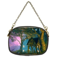 Background Forest Trees Nature Chain Purses (one Side)