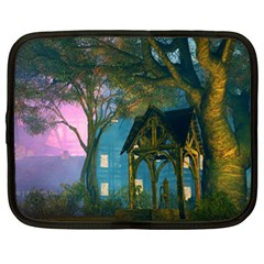 Background Forest Trees Nature Netbook Case (xxl)