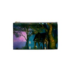 Background Forest Trees Nature Cosmetic Bag (small)