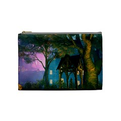 Background Forest Trees Nature Cosmetic Bag (medium)