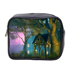 Background Forest Trees Nature Mini Toiletries Bag 2 Side