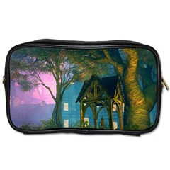 Background Forest Trees Nature Toiletries Bags 2 Side