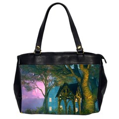 Background Forest Trees Nature Office Handbags (2 Sides)