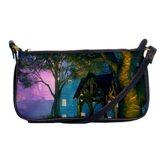 Background Forest Trees Nature Shoulder Clutch Bags
