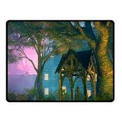 Background Forest Trees Nature Fleece Blanket (small)