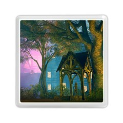 Background Forest Trees Nature Memory Card Reader (square)