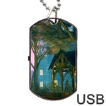 Background Forest Trees Nature Dog Tag USB Flash (One Side) Front