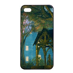 Background Forest Trees Nature Apple Iphone 4/4s Seamless Case (black)