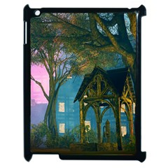Background Forest Trees Nature Apple Ipad 2 Case (black)