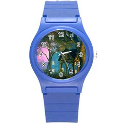 Background Forest Trees Nature Round Plastic Sport Watch (s)