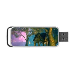 Background Forest Trees Nature Portable Usb Flash (two Sides)