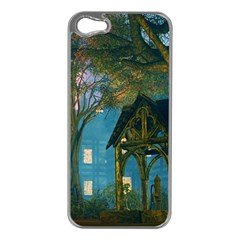 Background Forest Trees Nature Apple Iphone 5 Case (silver)