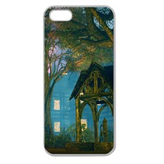 Background Forest Trees Nature Apple Seamless Iphone 5 Case (clear)