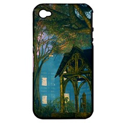 Background Forest Trees Nature Apple Iphone 4/4s Hardshell Case (pc+silicone)