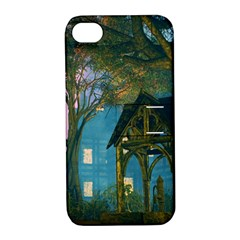 Background Forest Trees Nature Apple Iphone 4/4s Hardshell Case With Stand