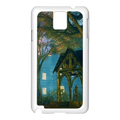 Background Forest Trees Nature Samsung Galaxy Note 3 N9005 Case (white)