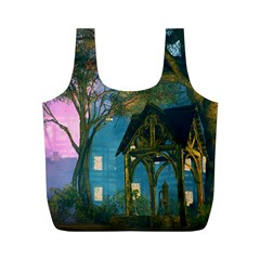Background Forest Trees Nature Full Print Recycle Bags (m)