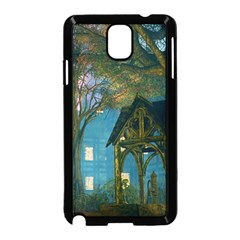 Background Forest Trees Nature Samsung Galaxy Note 3 Neo Hardshell Case (black)
