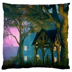 Background Forest Trees Nature Large Flano Cushion Case (one Side)