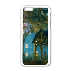Background Forest Trees Nature Apple Iphone 6/6s White Enamel Case