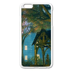 Background Forest Trees Nature Apple Iphone 6 Plus/6s Plus Enamel White Case