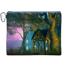 Background Forest Trees Nature Canvas Cosmetic Bag (xxxl)