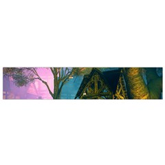 Background Forest Trees Nature Flano Scarf (small)