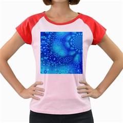 Bokeh Background Light Reflections Women s Cap Sleeve T Shirt