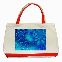 Bokeh Background Light Reflections Classic Tote Bag (red)