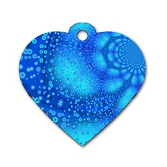 Bokeh Background Light Reflections Dog Tag Heart (two Sides)