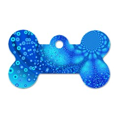 Bokeh Background Light Reflections Dog Tag Bone (two Sides)